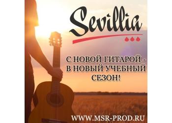 Поступление бюджетных классических и акустических гитар индонезийской компании SEVILLIA!